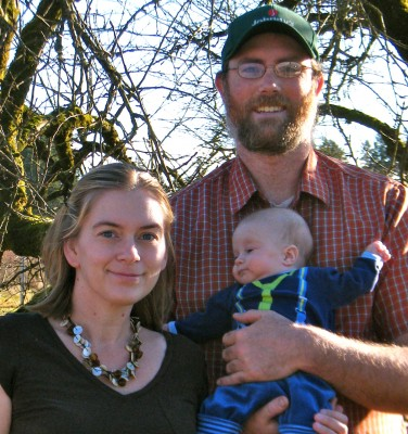 Heather, Brock and Isaac McLeod of Makaria Farm