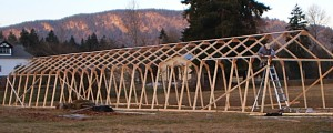 Brock builds a greenhouse in the winter of 2008