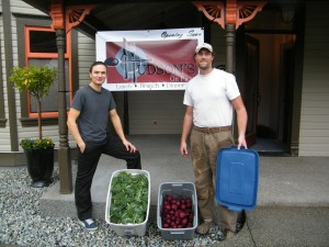 Our first delivery to chef Dan Hudson.